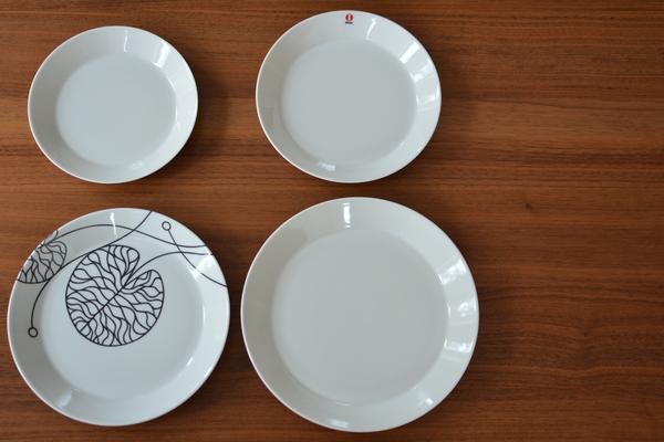 イッタラ ティーマ ホワイト19cmを各サイズを比較