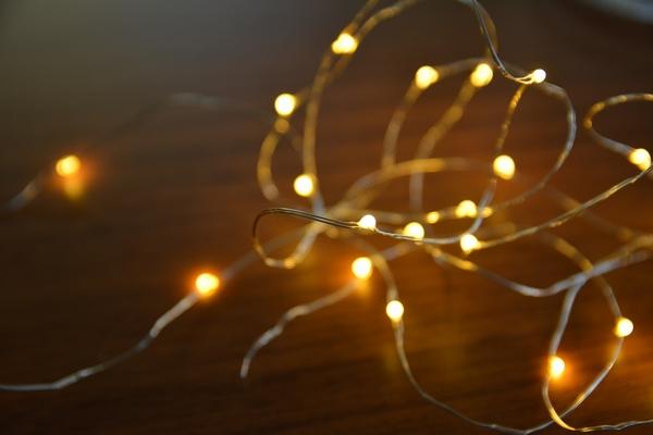 ワイヤー式LEDライトはクリスマスにぴったり!