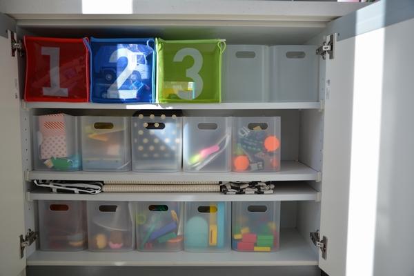 【収納】ダイソー 積み重ねボックスでおもちゃ収納