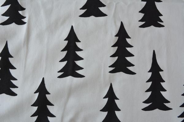 ファインリトルデイ モミの木柄 コットンブランケット