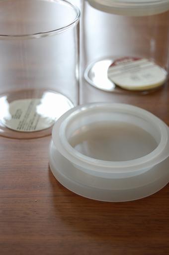 無印良品 耐熱ガラス丸型保存容器
