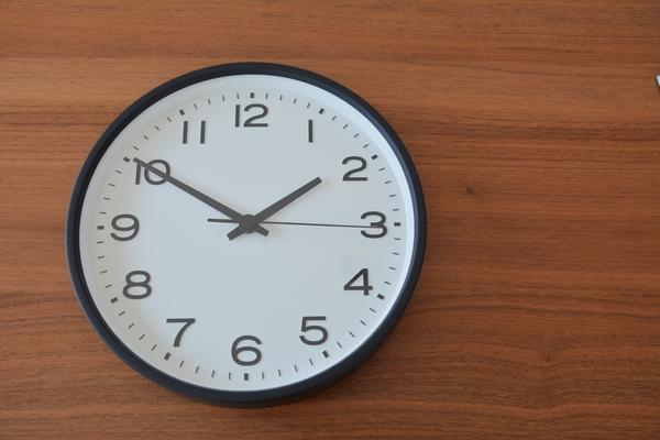 無印良品 掛時計 ブラック
