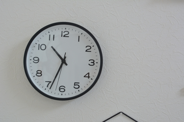 無印良品 アナログ時計・大 掛時計・ブラック