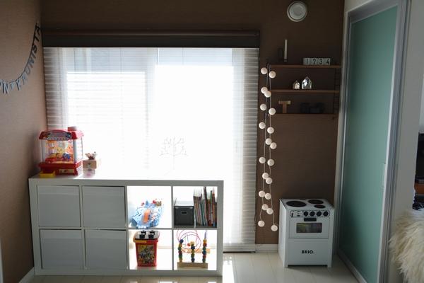 子供部屋のインテリア ikeaイケアのボックスでおもちゃ収納