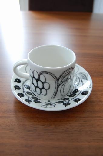 ブラックパラティッシ コーヒーカップ&ソーサー