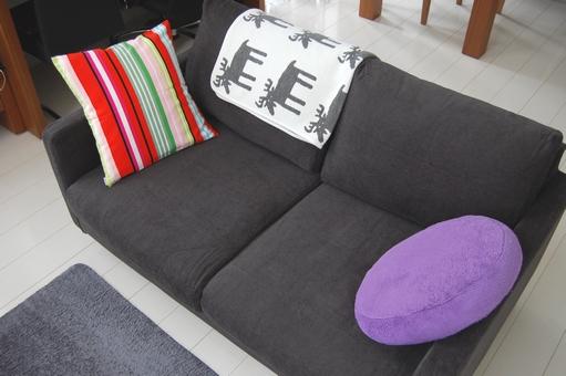【MUJI】無印良品 ソファーカバーをチャコールグレーに交換