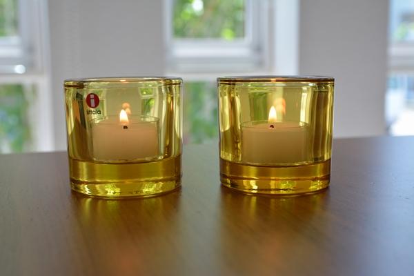 イッタラ kivi レモンにキャンドルを灯してみます