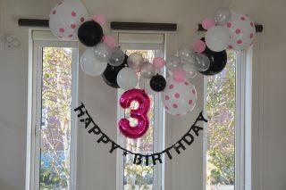【北欧インテリア】3歳の誕生日 飾り付けはピンクを使って女の子っぽく